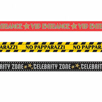 90 foot Hollywood Decorations Warning Tape VIP Papparazzi Celebrity zone