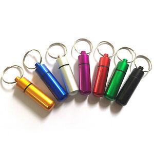 Waterproof Survival Match Pill Box Case Bottle Bait Holder Keychain ContaineY_ec