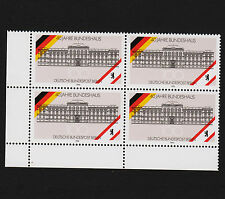 1990 germany Berlin Sc#9N588 Mi#867 Corner Margin Block of 4 MNH