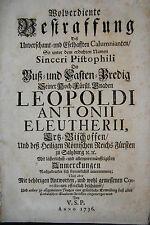 Libello su arcivescovo Leopold Anton V. Salzburg - 1736