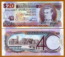 Barbados, 20 dollars, 2012, P-72, UNC > Commemorative