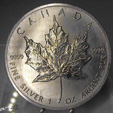 Maple Leaf 1989, 5 Dollars, Kanada, 1 Unze Feinsilber