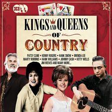 3 CD BOX KINGS & QUEENS OF COUNTRY CLINE CASH LEE ROBBINS REEVES SNOW WELLS ETC