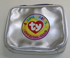 "RARE Beanie Babies Official Club Bag Clear Cover 10 1/2"" x 8 1/2"" x 2 1/2"""