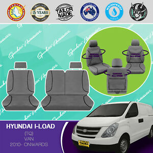 FOR HYUNDAI ILOAD 2010-ONWARD CANVAS WATERPROOF TAILOR MADE GREY CAR SEAT COVERS