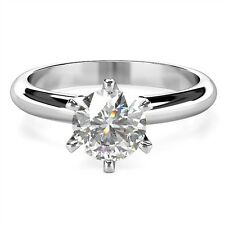 0.50ct F SI2 GIA Platinum. Half Carat Diamond Solitaire Platinum Ring. GIA cert
