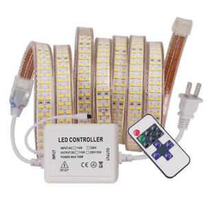 240led/m 110V LED Strip 5730 Super Bright Flexible Tape Light Dimmable WarmWhite