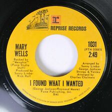 Soul Unplayed 45 Mary Wells - I Found What I Wanted / I See A Future In You On R