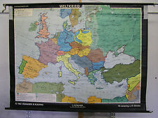 Schulwandkarte Wall Map Europa After 2.WK Card Europe After WW2 Map