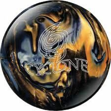 EBONITE CYCLONE BLACK GOLD SILVER 12 LB BOWLING BALL NEW AWESOME BALL HOOK