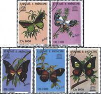 Sao Tome e Principe 1681-1685 (kompl.Ausg.) gestempelt 1996 Schmetterlinge
