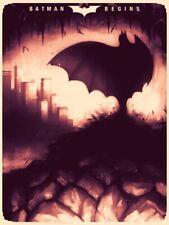 Batman Begins Dark Knight Sam Wolfe Connelly Art Print Mondo Bottleneck Variant