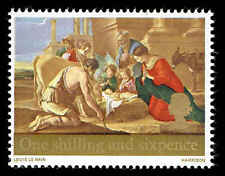 Scott # 524 - 1967 - ' Adoration of the Shepherds ' Phosphor Lined Paper