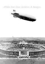 Photo: LZ129 AKA Hindenburg Over Olympic Stadium, Germany, 5 x 7, August 1, 1936