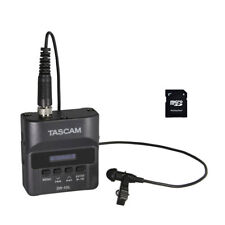 Tascam DR-10L Digital Audio Recorder w/ Lavalier Mic & EV Music 32gb Card New