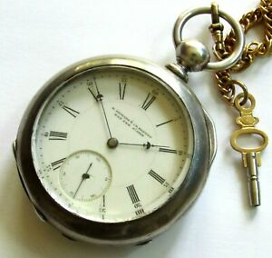 E. Howard Series IV Key-wind Pocket Watch 18 size 15 jewels Coin silver RUNS