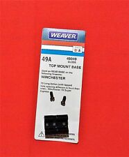 Weaver Scope Base #49A fits Winchester 70 Long Action w/ diff hole spacings REAR