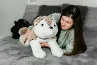 "LARGE 23"" WILD WOLF SOFT TOY PLUSH TEDDY BEAR HUGE CUDDLY STUFFED BABY REPUBLIC"