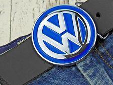 Gürtelschnalle VW Bus Bulli Volkswagen Blau Chrom Auto Wechselschnalle Buckle