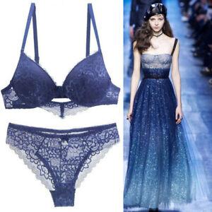 Sexy Ladies Lace Padded Lingerie Super Boost Push up Bra Set Briefs Underwear BH