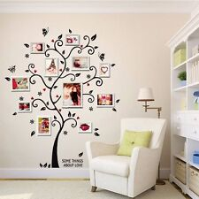 Black Tree Butterfly Leaves Home Wall Stickers Living Room Decals For Photos