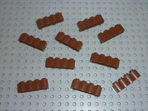 10 x LEGO WESTERN OldBrown brick log ref 30137 Set 6769 6762 3225 7419 6763 6766