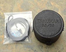 Genuine Asahi Pentax Takumar 3.5/35 35mm f3.5 Leather Lens Case w/ Strap (#784)