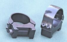 Picatinny scope rings, mounts,1 inch, LOW height, Quality STEEL GLOSS BLUE .