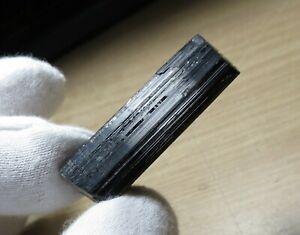 40mm HIGH SHEEN BLACK TOUMRALINE rough NATURAL CRYSTAL STICK SPECIMEN