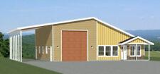 46x48 House - 1 Bedroom 1 Bath 1 RV - 1,157 sqft - PDF Floor Plan - Model 1E