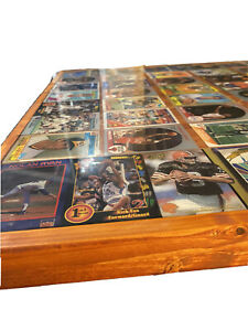 Pub Table With Inlaid Vintage Sports Cards Sealed In Resin