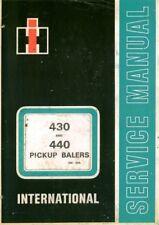 INTERNATIONAL BALER 430 & 440 WORKSHOP SERVICE MANUAL