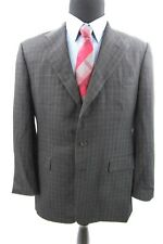 Ralph Lauren Wool Sport Coat Blazer Mens 42 R Purple Label Black Check Jacket