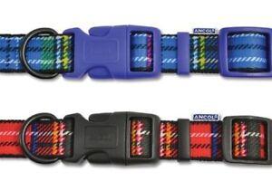 Ancol Red And Blue Tartan Adjustable Dog Collars