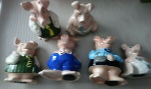 NatWest pig Money box With Stoppers Woody/Anabel/Lady Hillary/Maxwell