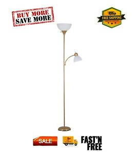 72'' Combo Floor Lamp with Adjustable Reading Lamp, Multi-color Metal