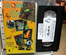 ACORN NATURE NUT documentary VHS kids science 1994 Winter Bird Watching