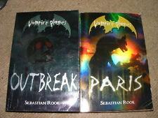 Vampire Plagues Books #2 Paris & #4 Outbreak by Sebastian Rook PB