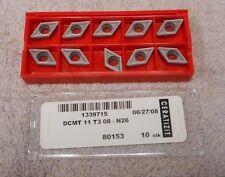 CERATIZIT   CARBIDE  INSERTS    DCMT 11 T3 08     GRADE N26   PACK OF 10