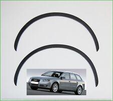 AUDI A4 Typ B7 Limousine und Avant Radlauf Zierleisten Satz 4 Stück SCHWARZ MATT