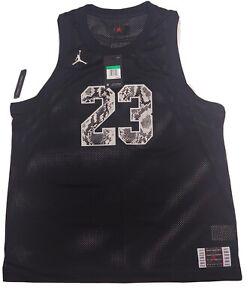 Air Jordan Retro 11 CI0304 Black Snakeskin Basketball Jersey Mens sz M Tank Top