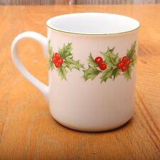 Schmidt Porcelana Brasil Holly Christmas Collectible Coffee Cup Tea Mug