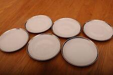 "6 Aristo Craft Fine China Royal Platinum Bread Salad Plates Made In Japan 6 1/2"""
