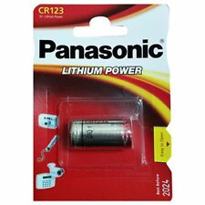 1x Pile Panasonic CR123 3V LITHIUM APPAREIL PHOTO FOTO123A DL 123A LA CR123AP