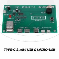 3in1 Type-C Micro USB Tristar Dock Tester Charging IC Tester For iPhone Android