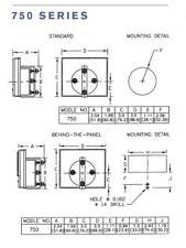 Shurite 7801z 20 To 3 Vu Analog Meter 35 X 30 Panel Face 2 Round Body