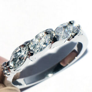 Wedding Bridal Party 925 Silver Crystal Ring for Womens Female Rings Size 5