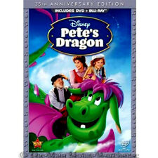 Classic Disney Live Action Animation Hybrid Pete's Dragon DVD Blu-ray Combo Pack