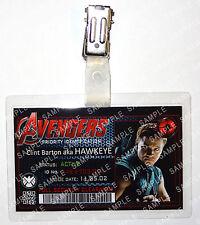Marvel Avengers ID Badge Clint Hawkeye Superhero Cosplay Costume Prop Christmas