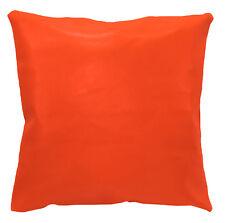 pe215a Fluorescent Orange Faux Leather Cushion Cover/Pillow Case Custom Size